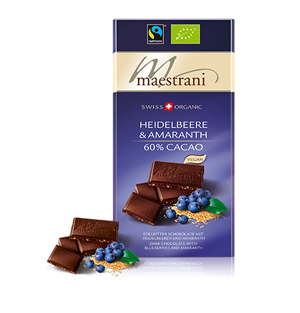 Maestrani Swiss Organic Chocolate Blueberries Swiss Made Shop