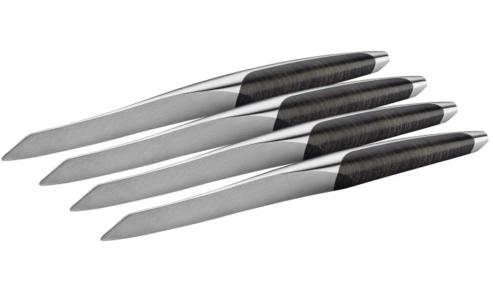 sknife steakmesser 4er set esche schwarz steakmesser swiss made